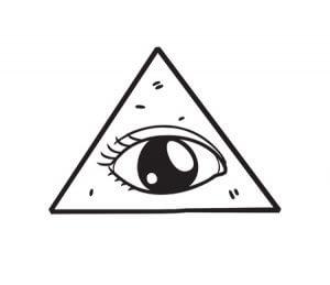 14336170 - freemason symbol in doodle style
